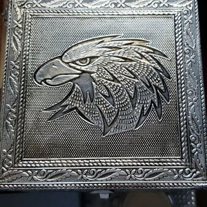 Other - Artisan Eagle Aluminum jewelry box